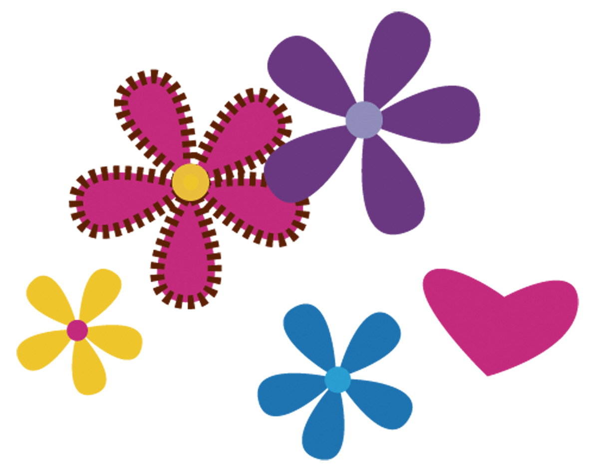 1200x943 Purple Flower Clipart Line Flower