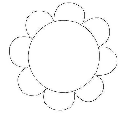 400x384 Flower Outline Clip Art