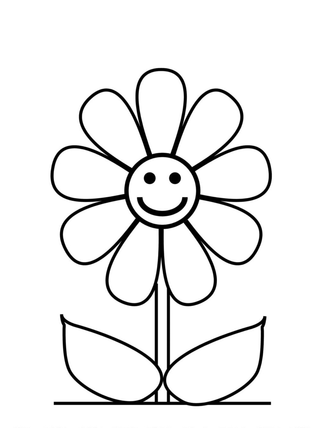 1071x1400 Luxury Outline Of A Flower To Color Coloring Pages Activities