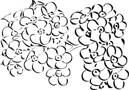 425x296 Simple Flower Outline Vector