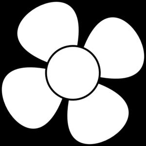 300x300 Flower Blackampwhite Clip Art