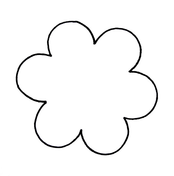 576x583 Clipart Flower Outline