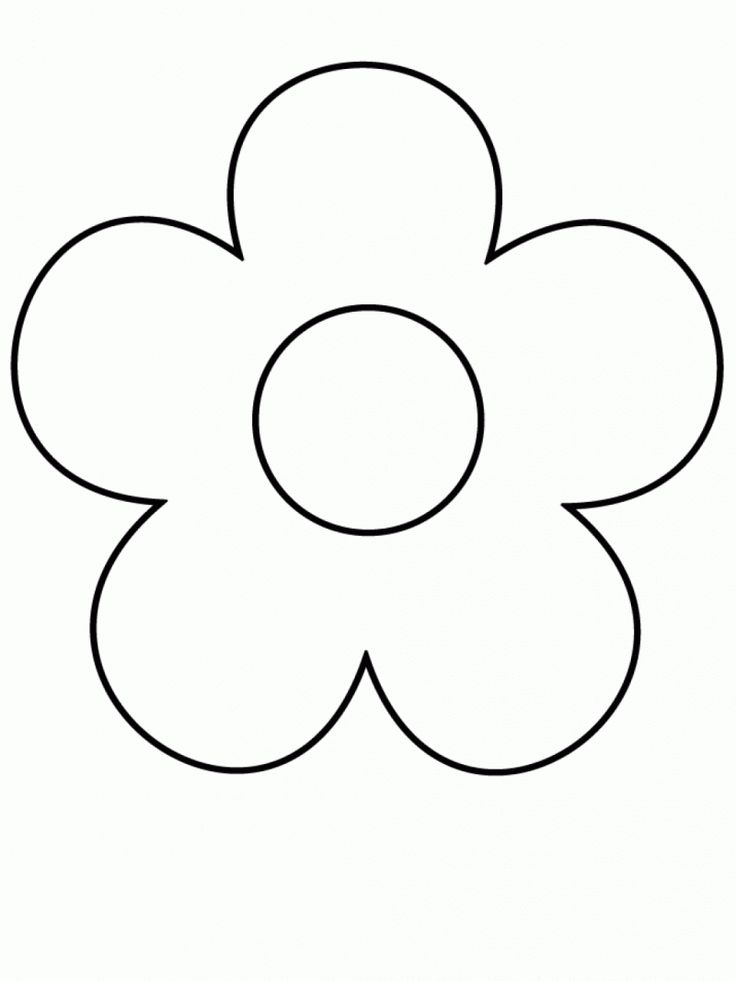 736x981 Coloring Pages Pretty Basic Flower Drawing Outline Simple