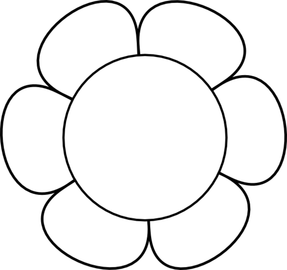 570x536 Petal Clipart Flower Outline