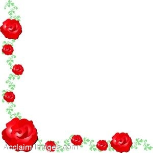 300x300 Clip Art Of A Corner Page Border Made Of Roses