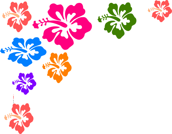 600x467 Hawaiian Flower Border Clipart
