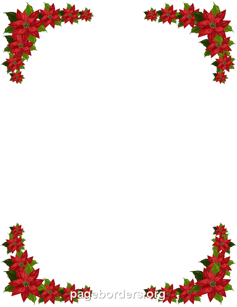 470x608 Poinsettia Border Clip Art, Page Border, And Vector Graphics