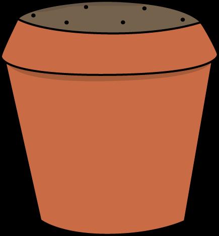 435x469 Dirt Filled Flower Pot Clip Art