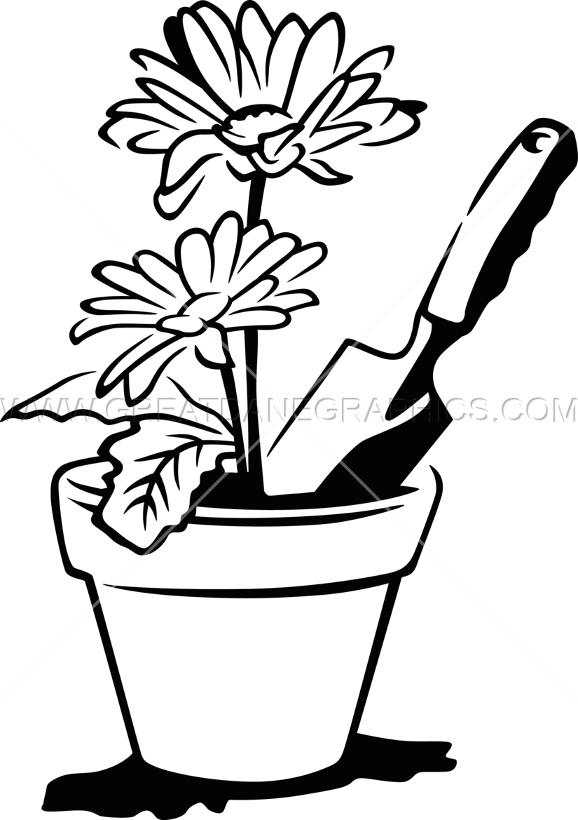 825x1169 Flower Pot Production Ready Artwork For T Shirt Printing