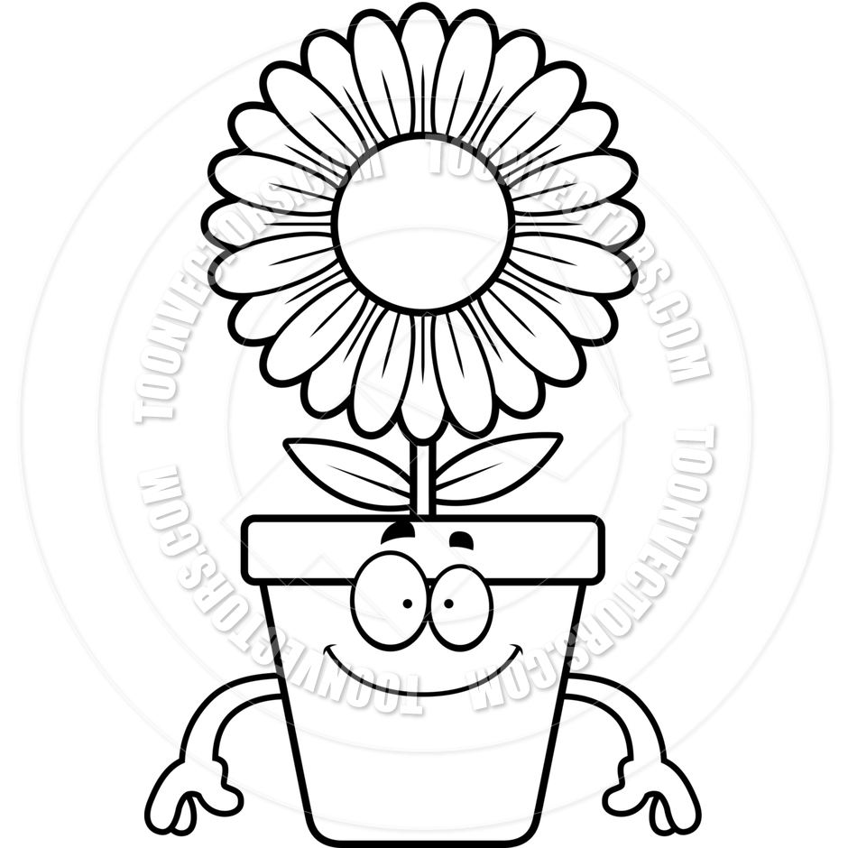 Flower Pot Clipart Black And White Free Download Best Flower Pot