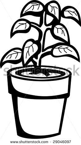 263x470 Flower Pot Clipart Chadholtz