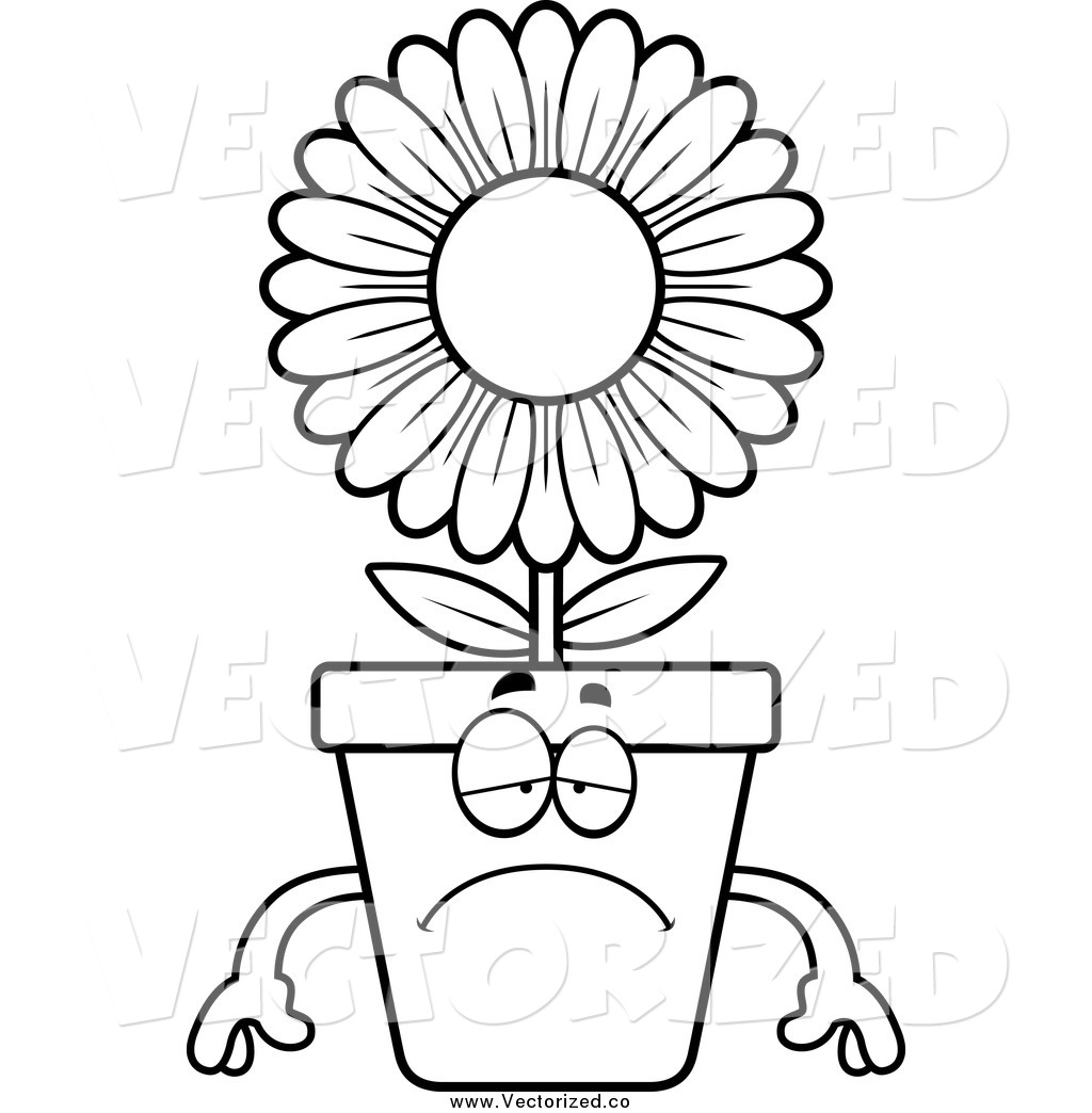 Flower Pot Clipart Black And White | Free download best Flower Pot ...