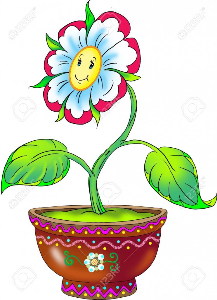 743x1024 Flower Pot Drawing Photo Of Flower Pot 136 Inspiring Style