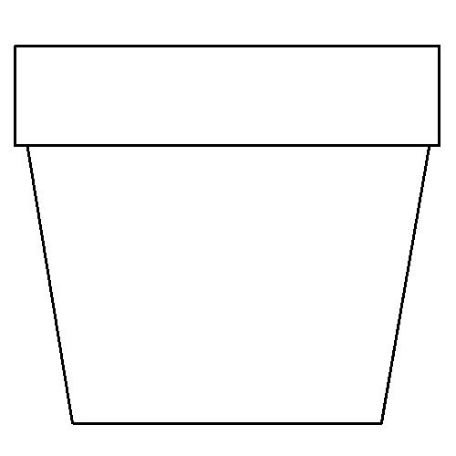 500x500 New Flower Pot Coloring Page 38 For Kids With