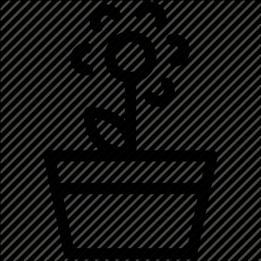512x512 Creative, Environment, Flower, Flowerpot, Garden, Green, Grid
