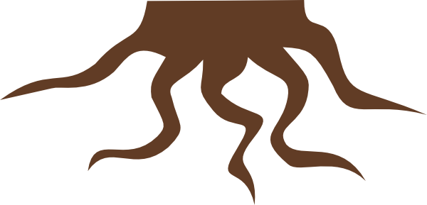 600x289 Roots Clipart