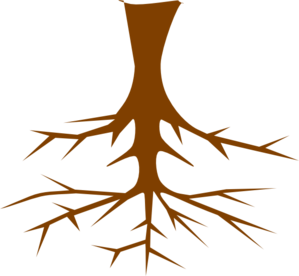 299x276 Tree With Roots Clip Art