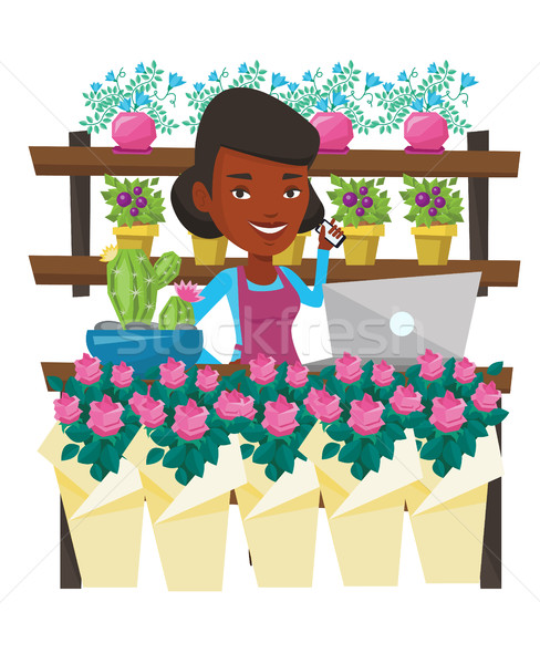 488x600 Flower Shop Stock Vectors, Illustrations And Cliparts Stockfresh