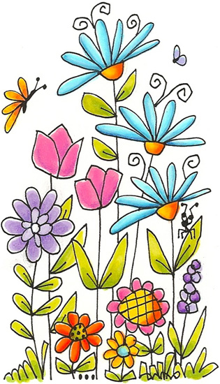 315x550 Simple And Pretty Flower Drawing