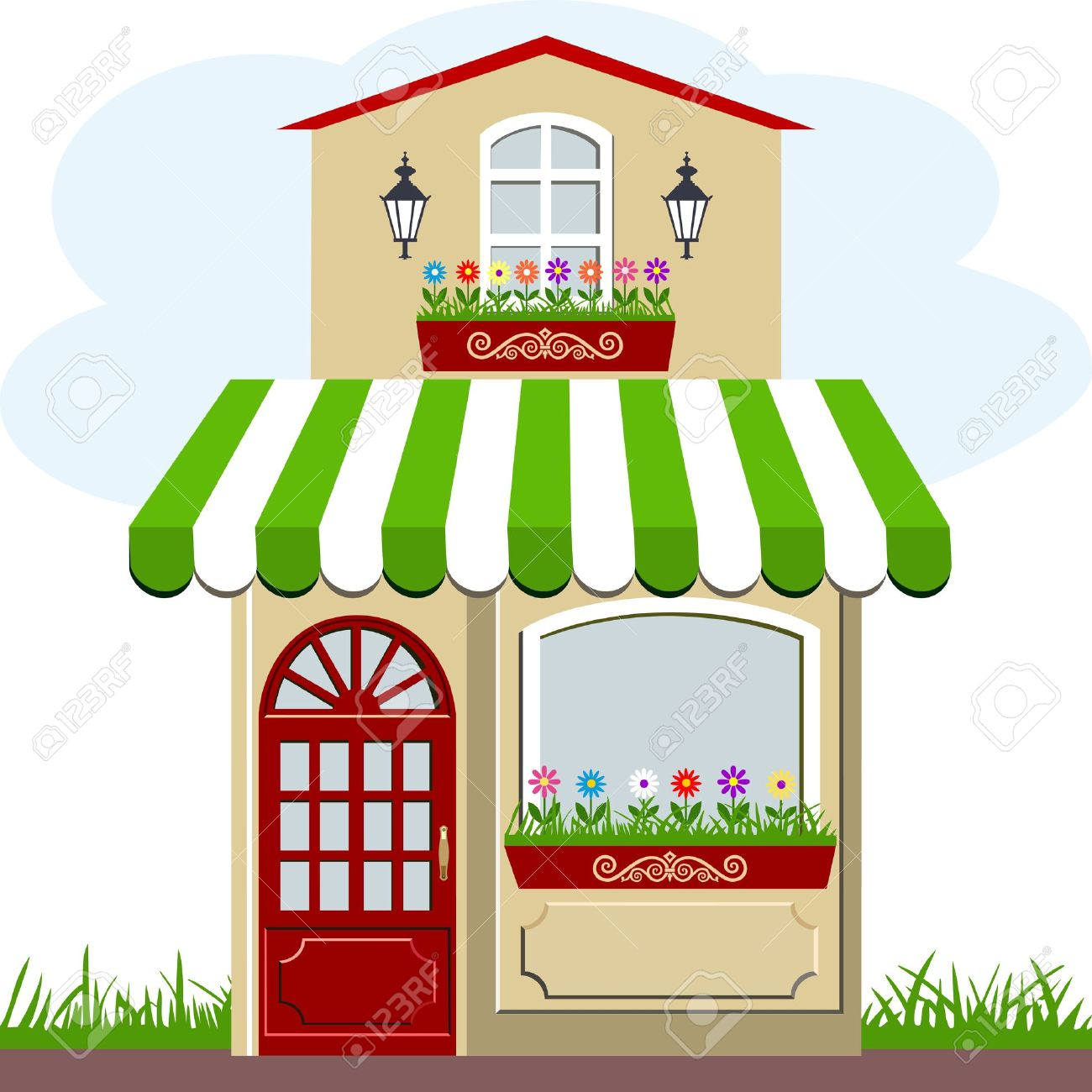 1300x1300 Window Clipart Flower Shop