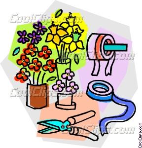 288x300 Flower Shop Supplies Vector Clip Art