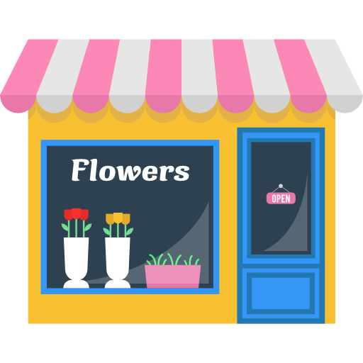 512x512 Opened, Flower, Commerce, Buildings, Store, Flowers, Shopping