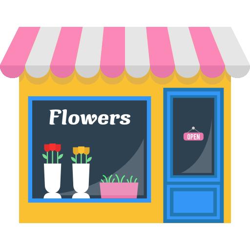 512x512 Opened, Flower, Commerce, Buildings, Store, Flowers, Shopping
