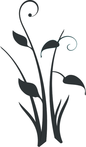 292x500 Pond Flower Silhouette Vector Clip Art Public Domain Vectors