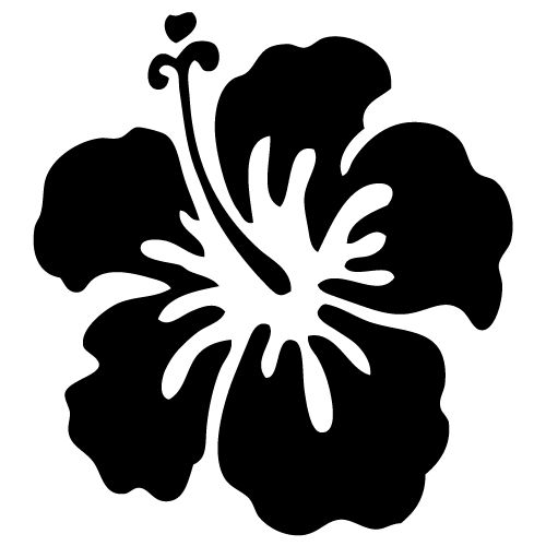 Flower Silhouette Vector Clipart