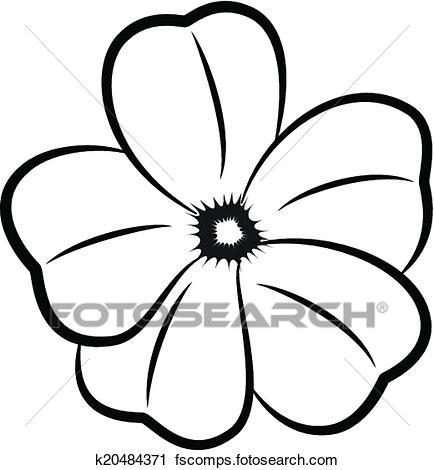 434x470 Clipart Of Flowers Silhouette K20484371