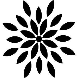 300x300 Flower Silhouette Clip Art 101 Clip Art