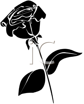284x350 Rose Clipart Silhouette