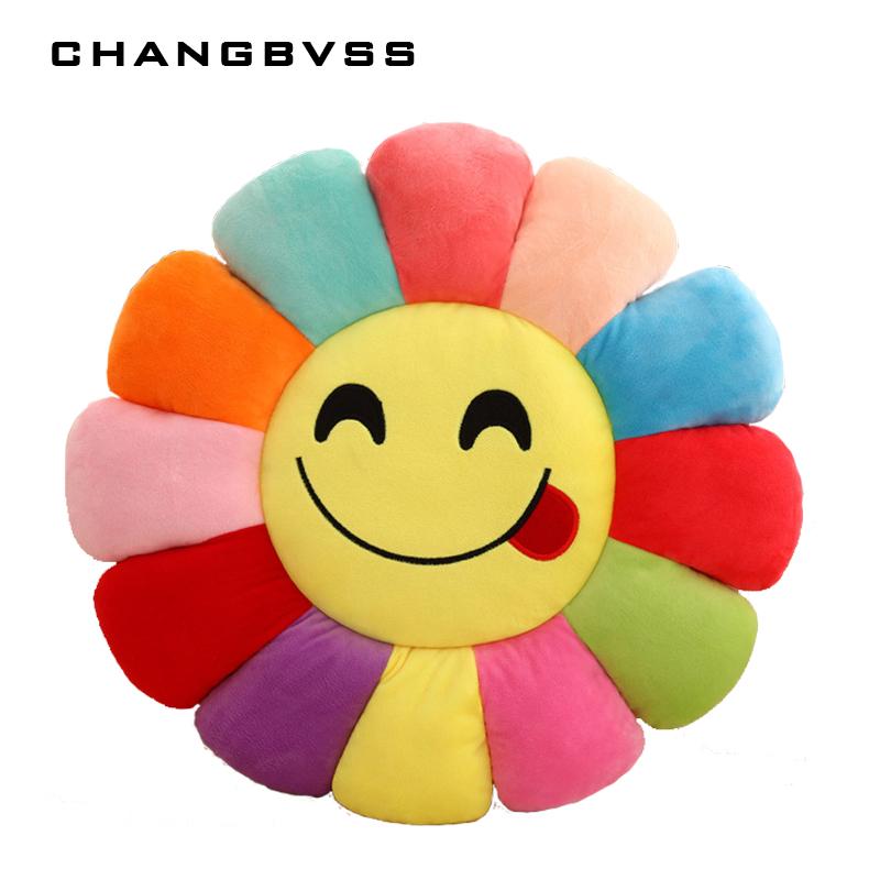 800x800 Flower Shape Decorative Pillows Emoticonos Chair Cushion,emoji