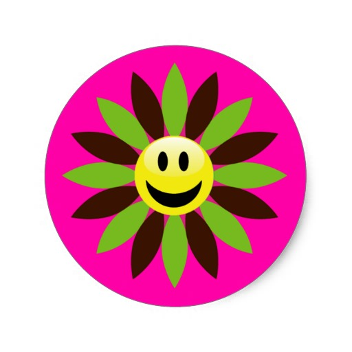 512x512 Free Smiley Face Flower Clipart Image