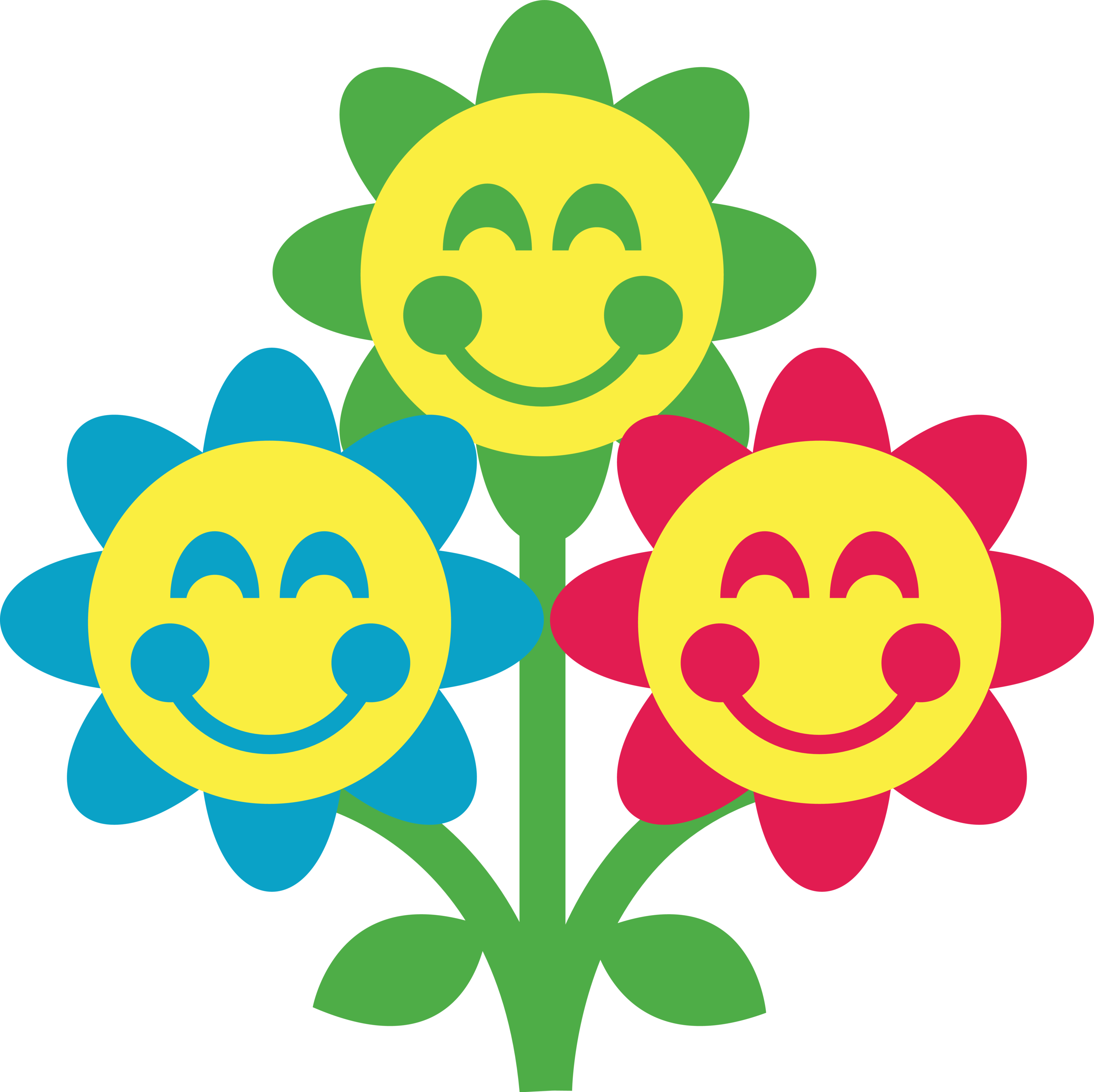 3000x2993 Free Smiley Face Flower Clipart Image