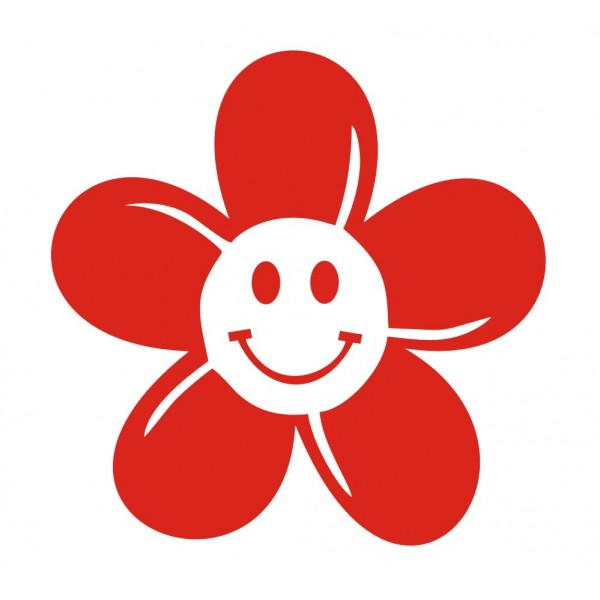600x600 Free Smiley Face Flower Clipart Image