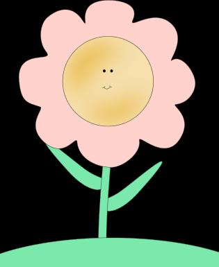 315x385 Happy Face Flower Clip Art