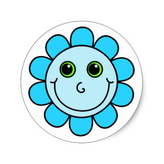 324x324 Smiley Face Flower Stickers Zazzle