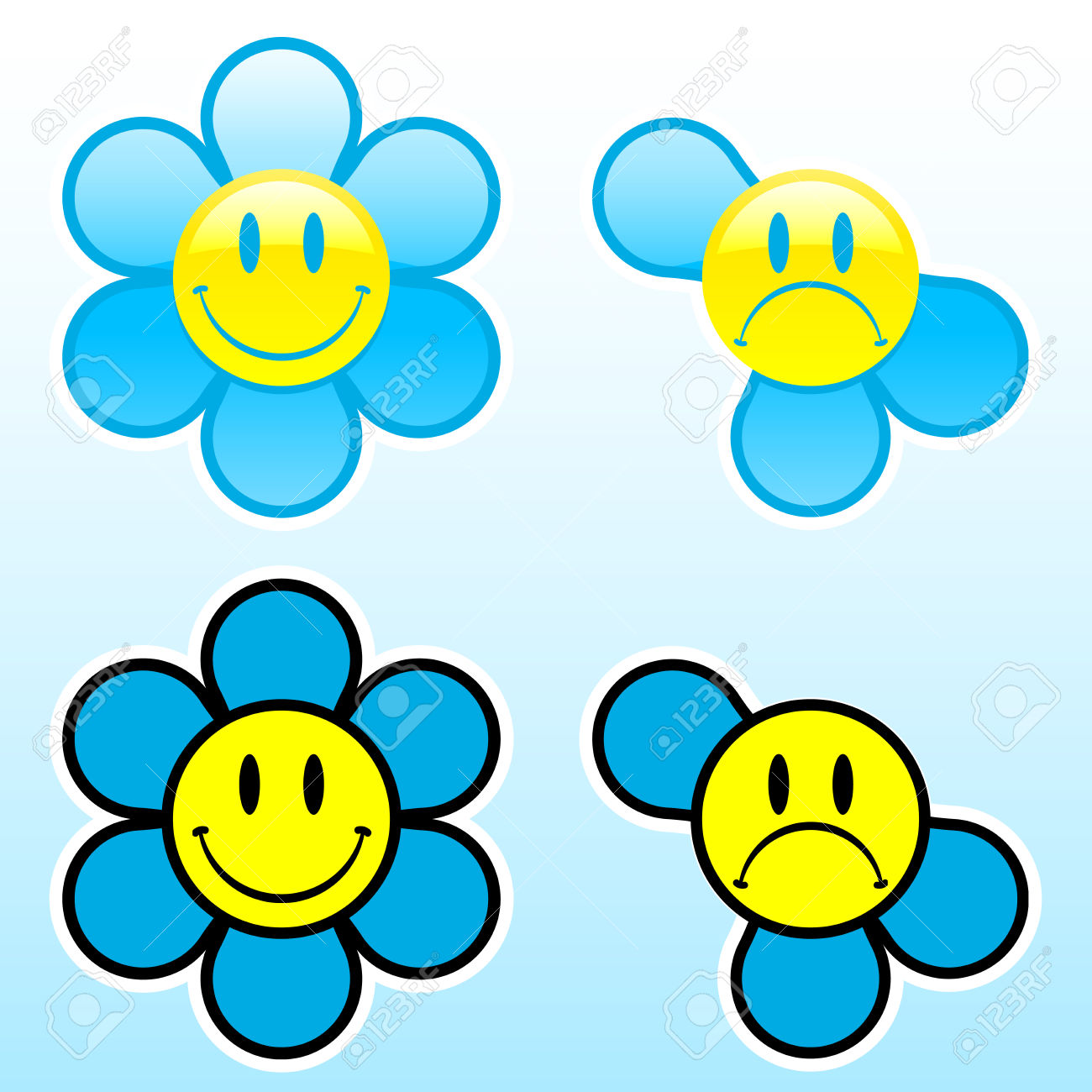 1300x1300 Best Smiley Face Flower