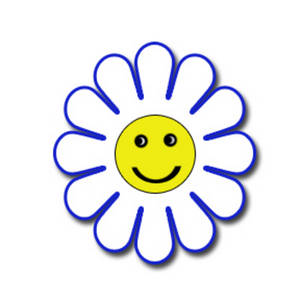 300x300 Blue Flower Clipart Smiley Flower