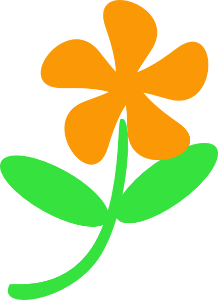 432x594 Orange Flower Stem Clip Art
