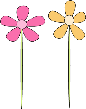297x377 Pink Flower Yellow Flower Clip Art