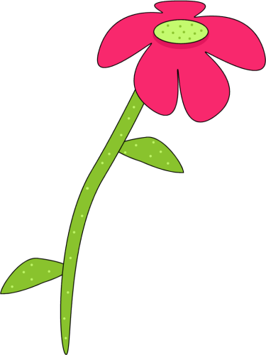 375x500 Pink And Green Droopy Flower Clip Art