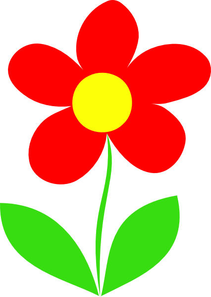 426x599 Red Flower Stem Clip Art