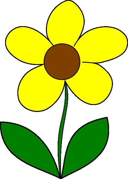 426x595 Yellow Flower Clipart