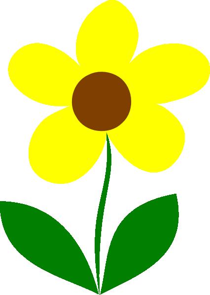 426x597 Yellow Flower Stem Clip Art