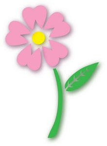 220x300 Flower Clipart Image