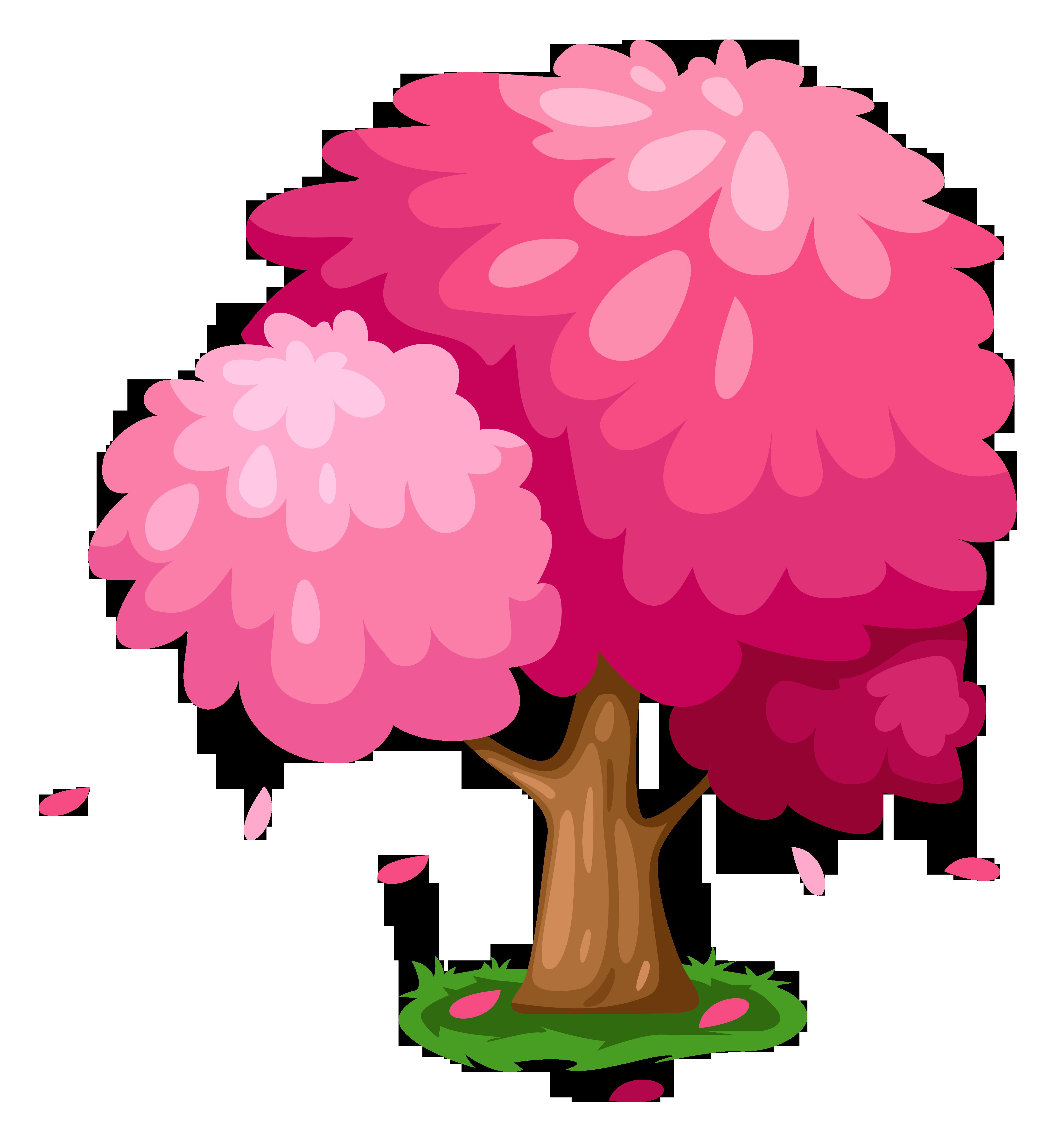 4408x4714 Cherry Tree Clipart Cute Flower Tree