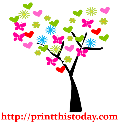417x417 Floral Clipart Tree