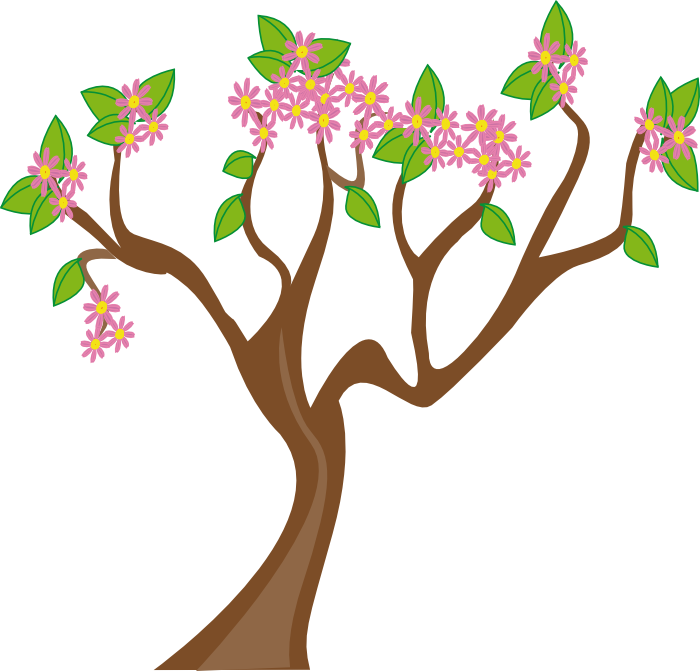 700x671 Plant Clipart Flowers And Tree